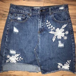 Velvet Heart Premium Denim Skirt